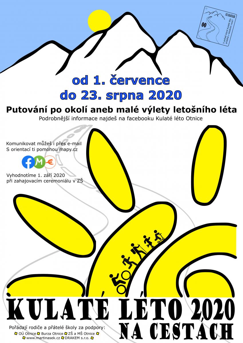 plakát Kulaté léto 2020 na cestách