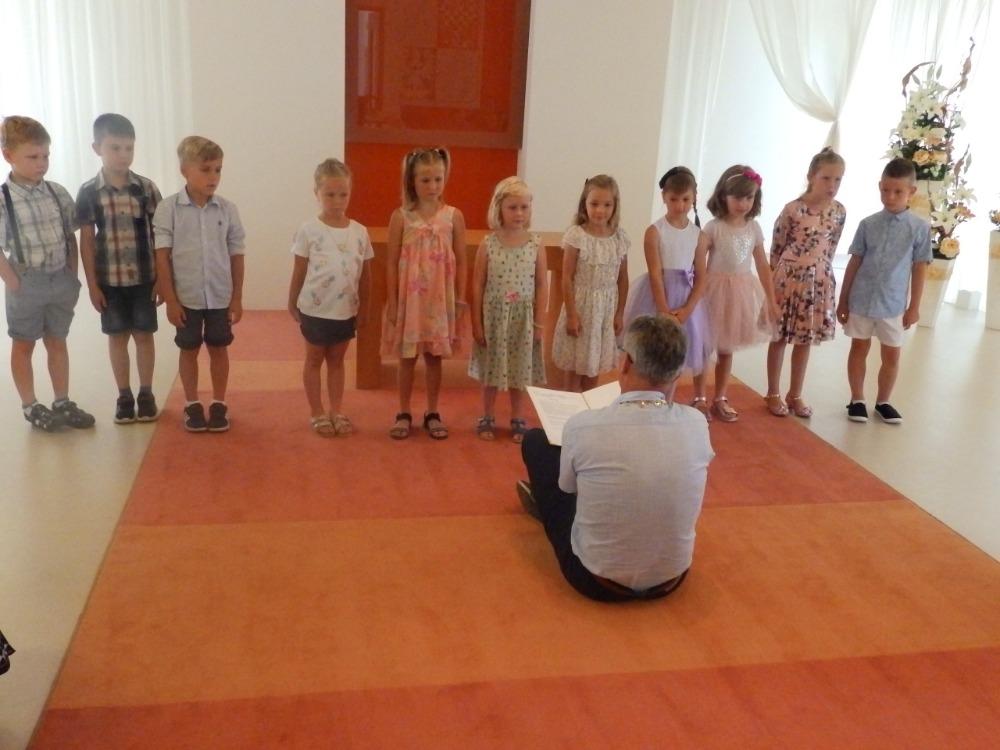 Rozloučení s předškoláky na OÚ - s proslovem p. starosty